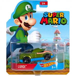 Hot Wheels Super Mario Luigi kisautó